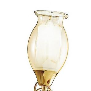 Diffusore Floreale in Vetro Ambrato Applique Ely Oro