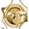 Plafonnier structure en métal doré Ely