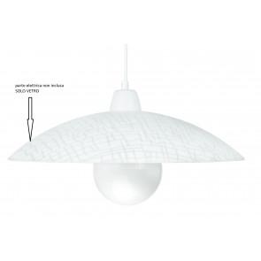 I-VKLEE / S42 - Abat-jour Klee pour Suspension Verre Blanc Décoration Carrée 42x10 cm F42
