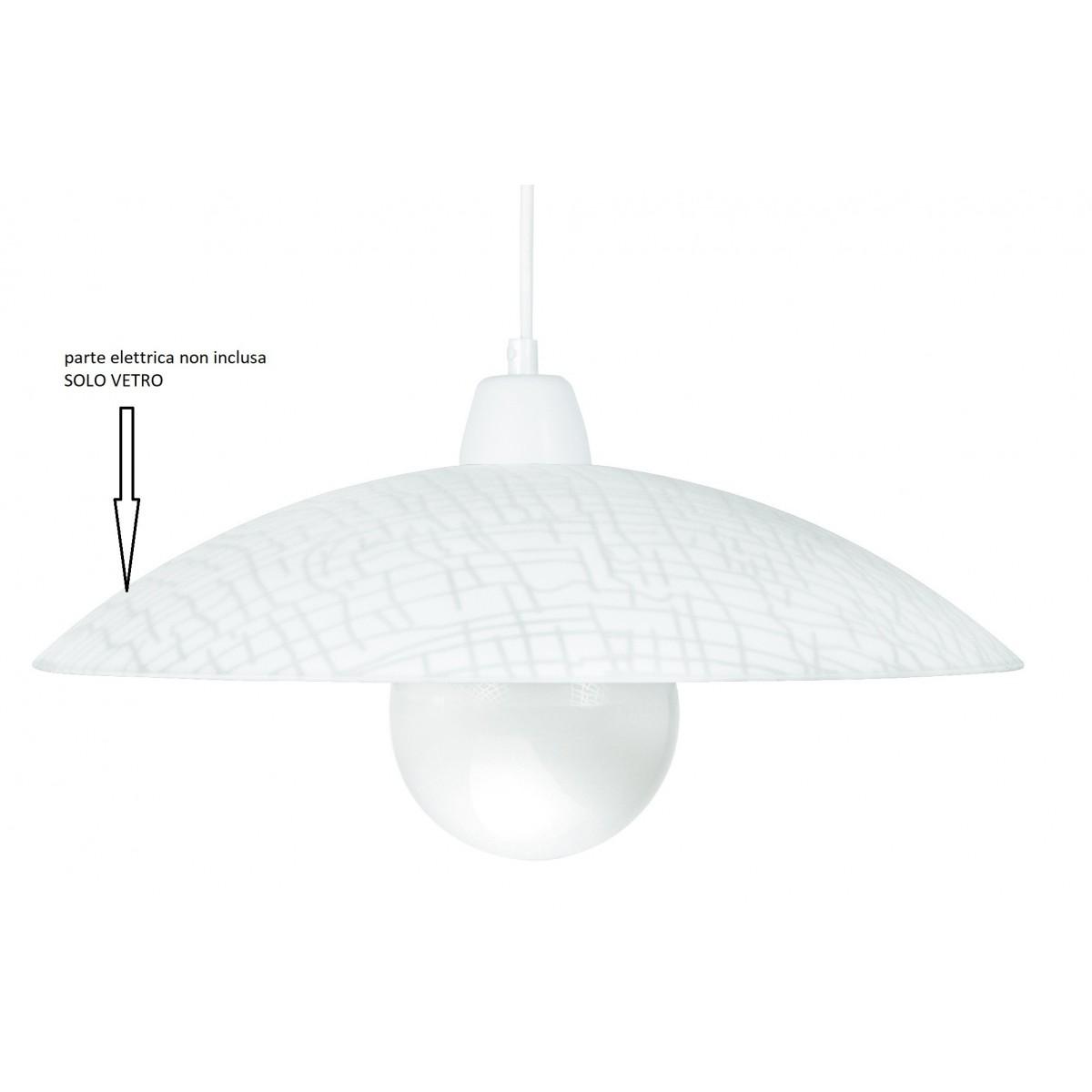 I-Klee/S42 - Paralume Bianco Per Lampadario Dalla Decorazione Astratta Diametro 42 Cm F42