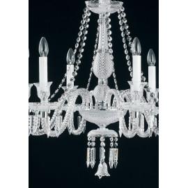 Suspension Incanto en cristal avec pendentifs et chaînes élégants