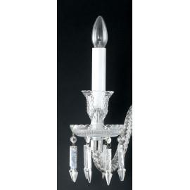 Applique 2 luci in Cristallo con finitura Cromo e eleganti Pendenti FanEurope