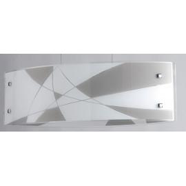 Diffuseur en verre avec décoration gravée gris tourterelle blanche Ligne Maxima FanEurope