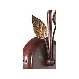 Applique de poésie en métal marron avec des feuilles d'or décorées à la main