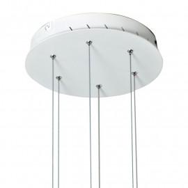 Suspension Saturn avec base ronde en aluminium blanc FanEurope