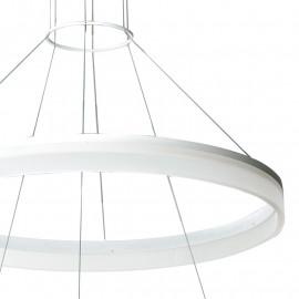 La structure en aluminium de diffuseurs d'anneau acrylique Saturne a mené la lumière
