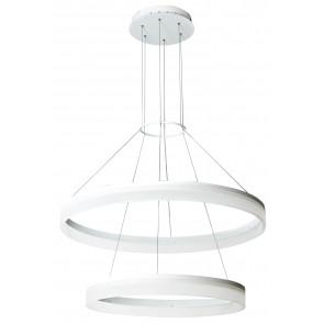 Lustre suspendu deux anneaux blancs acrylique en aluminium a mené la lumière naturelle de 30 watts