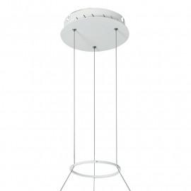 Suspension avec base ronde en aluminium blanc Saturn Fa Europe