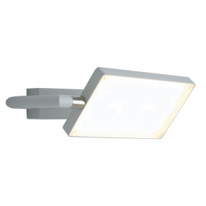Applique a Libro Orientabile Alluminio Bianco Led 17 watt Luce Calda
