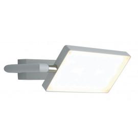 LED-BOOK-AP-BCO - Lampe de lecture réglable en aluminium blanc à lumière chaude de 17 watts