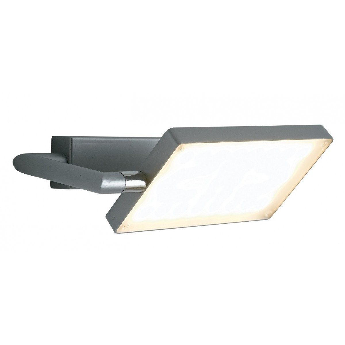 LED-BOOK-AP-GR - Applique a Libro Orientabile Giriga Alluminio Led 17 watt Luce Calda
