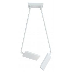 LED-BOOK-PL-BCO - Plafoneira réglable en aluminium blanc Plafoneira 2 lumières LED 34 att lumière chaude