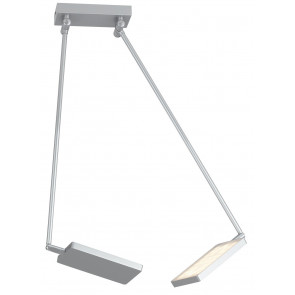 LED-BOOK-PL-GR - Lampe réglable livre en aluminium gris clair 2 lumières LED 34 watts Warm Light