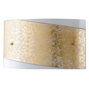 I-PARIS / 3520 GOLD - Applique rectangulaire en verre blanc bande dorée Lampe moderne E27
