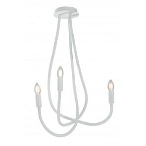 I-LOVER-3-BCO - Plafonnier Flexible 3 Lumières Métal Blanc Silicone Moderne Lampe Intérieur E14