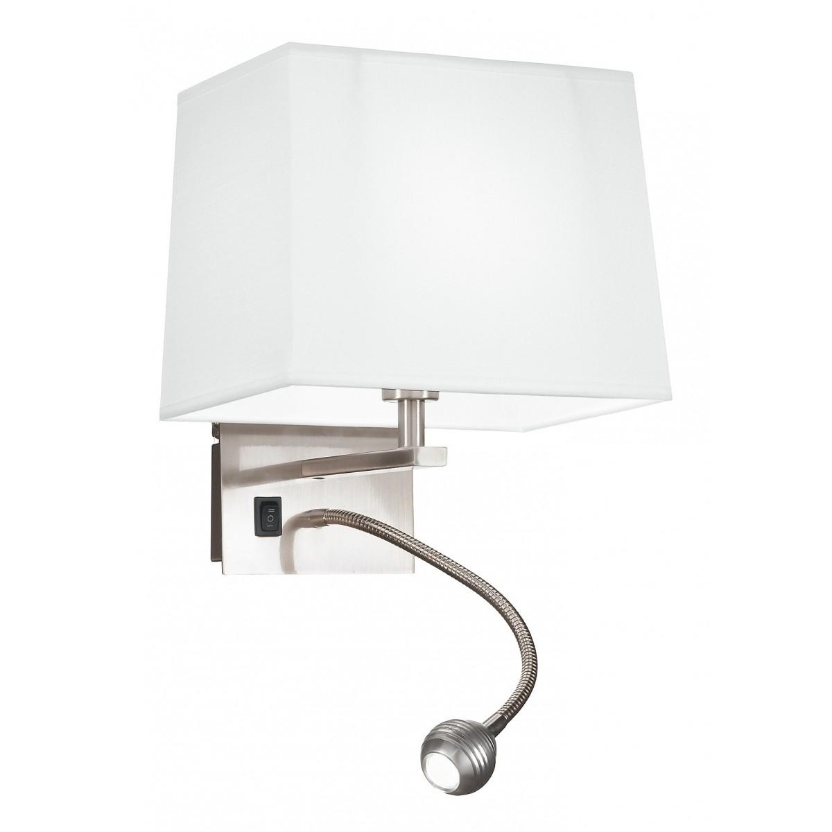 I-090111-5E - Applique Con Luce Led E Paralume Bianco 3 Watt 4500 Kelvin E14
