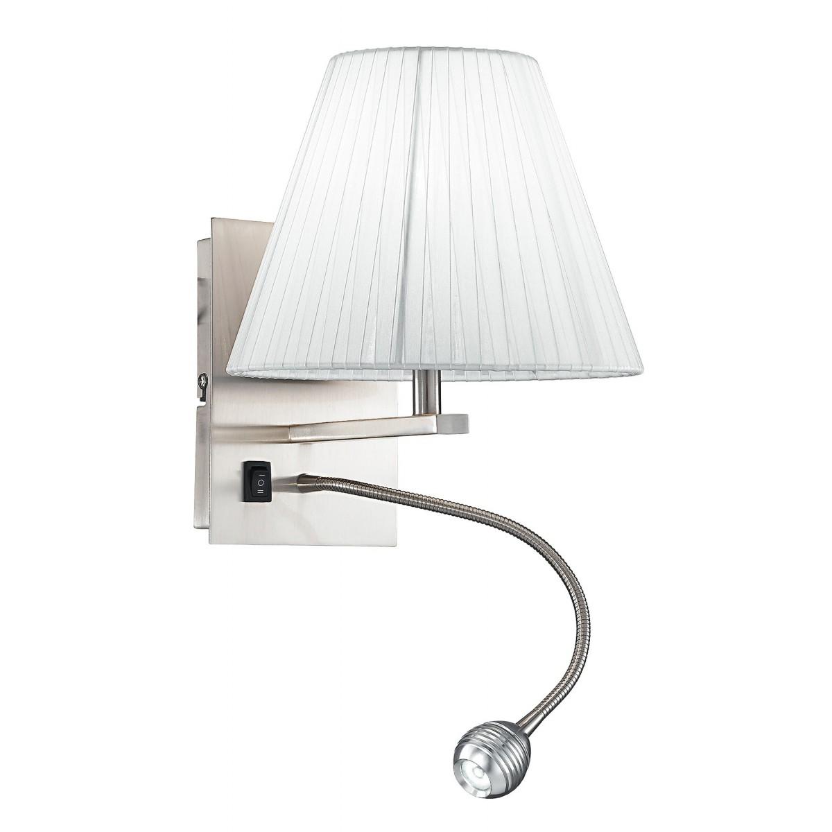 I-090111-5A - Applique Con Una Luce Led E Paralume Conico Bianco 3 Watt 4500 Kelvin E14