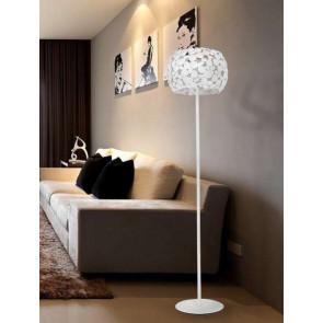 I-DIONISO-PT-BCO - Lampada da Terra Metallo Bianca Piantana Moderna Interno E27