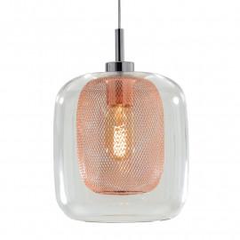 Diffuseur en verre transparent avec décoration en filet de cuivre