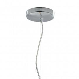 Lustre en métal chromé avec suspension
