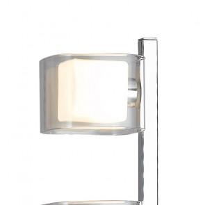 Lampadaire moderne en métal chromé...