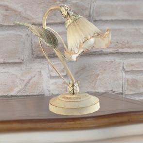 I-SPRING / L1 - Lampe élégante Décoration florale Diffuseur en métal Lampe de table classique en verre E14