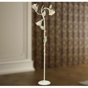 I-PRIMAVERA / PT3 - Lampadaire lampadaire avec abat-jour fleur ivoire 40 watts E14