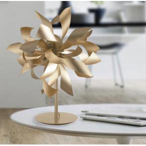 I-BLOOM-L ORO - Lampada da Tavolo Oro Alluminio decoro Moderno Interno G9