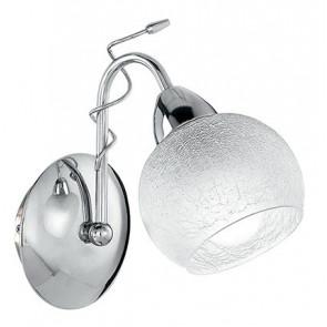 I-OPERA/AP1 CR - Applique Metallo Cromato diffusore Sferico Vetro Lampada da Parete Classica E14