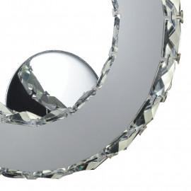Cristalli K9 Struttura in Metallo Cromato Luce Led Linea Melody Fan Europe