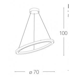 LED-MELODY / S70 - Suspension anneau...