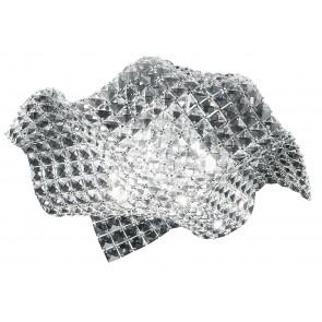 I-RUMBA-H2O/PL44 - Plafoniera Onda Moderna Cristalli K9 Incastonati Lampada Interni G9