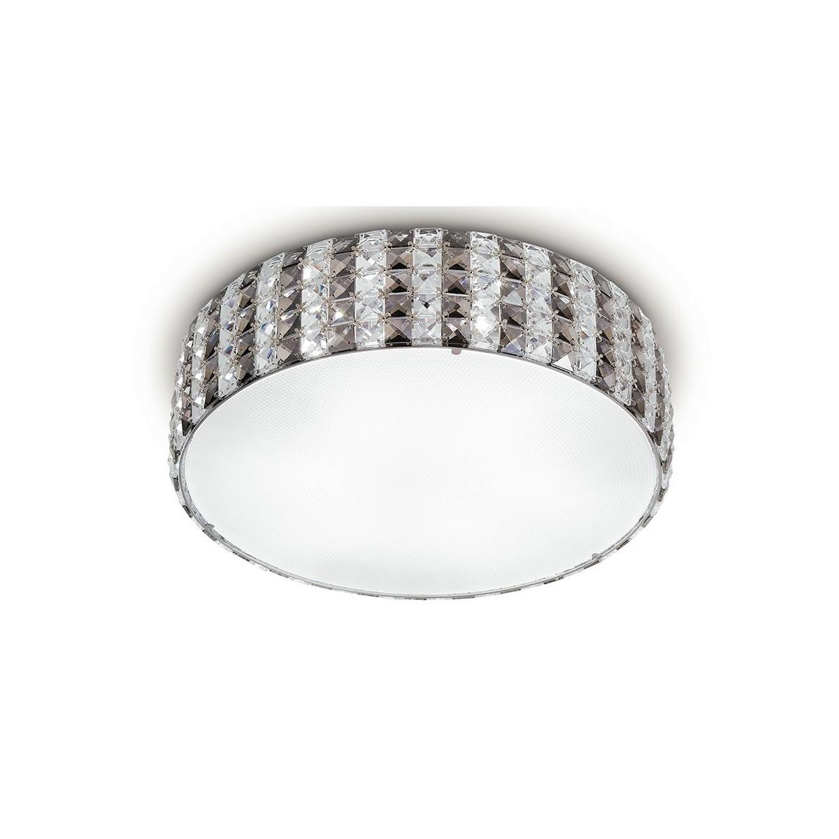 I-TANGO/PL45 - Plafoniera Tonda diffusore Vetro Cristalli K9 Lampada Soffitto Moderna G9