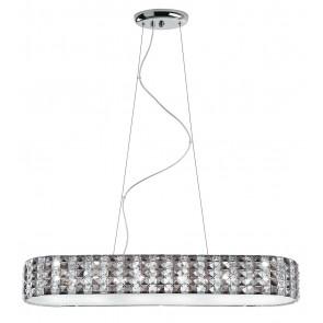I-TANGO/S84X22 - Lampadario a Sospensione Moderno Cristalli K9 diffusore Vetro Interno G9