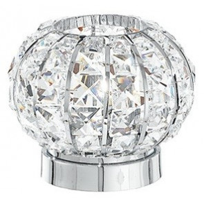 I-CONCERT / L - Lampe de table ronde en métal K9 Crystals Squared Classic Lampe de table E27