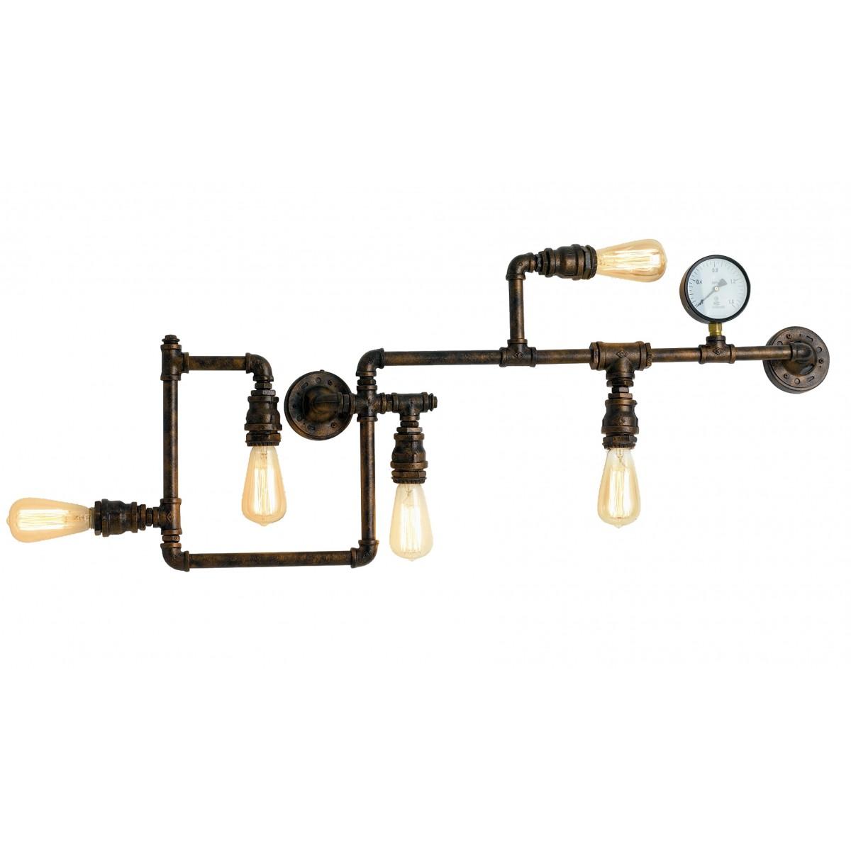 I-AMARCORD-PL5 - Plafonnier rustique en métal Plafond Plafond E27