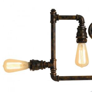 Lampadine Alogene con Luce Calda Plafoniera in Metallo con effetto Ruggine