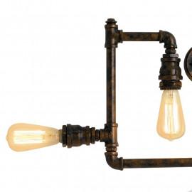 Ampoules halogènes à lumière chaude Plafonnier en métal effet rouille