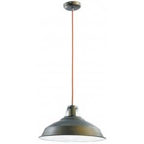 I-BOGOTA/S1 - Sospensione paralume Metallo Brozo Rustico Lampadario Vintage E27