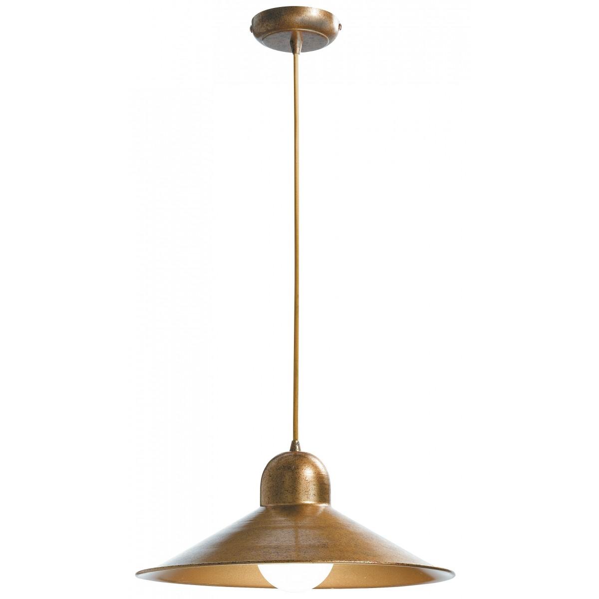 I-ORLEANS/S1 - Lampadario Sospensione Rame paralume Metallo Rustico Vintage E27
