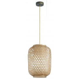 I-ZEN-S-S  - Sospensione Intreccio Bambù Naturale Lampadario Etnico E27