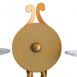 Applique Klimt en métal doré avec finitions en cristal