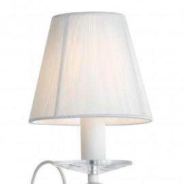 Applique Murale Blanc Perle avec Structure en Métal et Finition Cristal