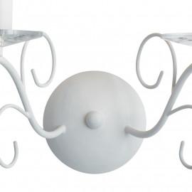Applique in Metallo Bianco Decorata Linea Perla FanEurope