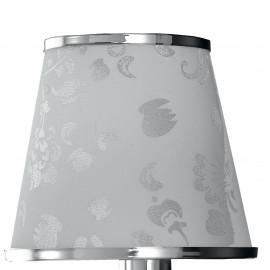 I-BOEME/AP1 - Applique Gocce Cristallo K9 Metallo paralume Polivinilico Bianco Glitterato E14