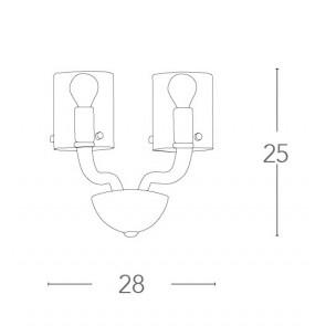 I-AURORA-AP2 TR - Lampe Applique...