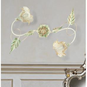 I-PRIMAVERA / PL2 - Diffuseurs plafonniers en métal Verre Décoré à la main Floral Classic Interior E14