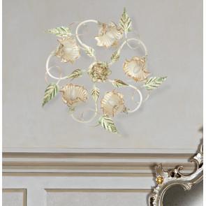 I-SPRING / PL5 - Plafonniers en métal diffuseurs Verre Décor à la main Floral Classic Lampe E14