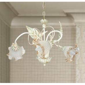 I-SPRING / 3 - Lustre floral Diffuseurs métalliques Verre Décoration main Classique E14