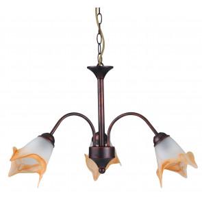 I-1162/3 RUG - Diffuseurs pour lustres en métal White Glass Orange Classic Suspension E14